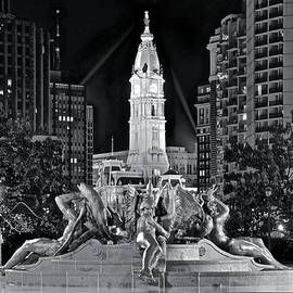 Frozen in Time Fine Art Photography - Late Night Fountain Light