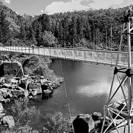 Launceston Bridge BW by Tim Richards