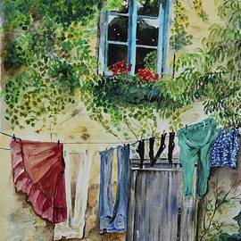 Laundry Day In France by Jan Dappen