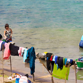 Laundry day in Guatemala 2 - Digital Paint