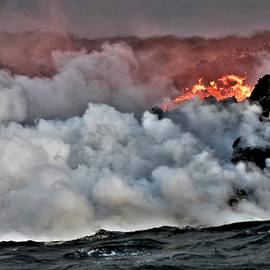 Lava Meets the Sea by Heidi Fickinger