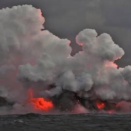 Lava Ocean Entry by Heidi Fickinger