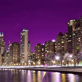Lavender Night in Chicago by Frozen in Time Fine Art Photography