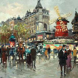 Le Moulin Rouge - Antoine Blanchard