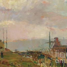 Le pont rustique pres de Rouen - Albert-Charles Lebourg