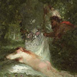 Le sommeil de la nymphe - Constant-Emile Troyon