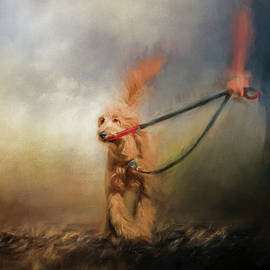 Jai Johnson - Leading Him Out Of The Storm Dog Art