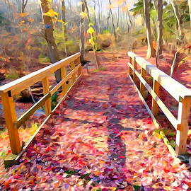 Ed Weidman - Leaf Covered Walkway