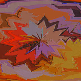 Leaves Abstract - Autumn Motif by Ben and Raisa Gertsberg
