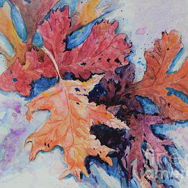 Leaves in the Snow IV by Marsha Reeves