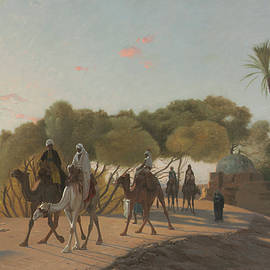 Leaving the Oasis - Jean-Leon Gerome
