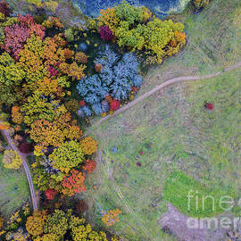 Wayne Moran - Lebanon Hills Park Eagan MN Autumn by Drone