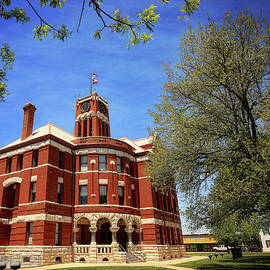 Lee County Courthouse Giddings Texas 1 by Judy Vincent