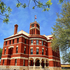 Lee County Courthouse Giddings Texas Vertical 2 by Judy Vincent