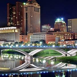Lengthy Columbus Nightscape by Frozen in Time Fine Art Photography