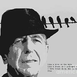 Leonard Cohen Pop Art with Lyrics by John Malone