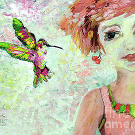 Leora Attracts Hummingbirds by Ginette Callaway