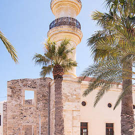 Antony McAulay - Lerapetra Turkish Mosque and Palm Trees