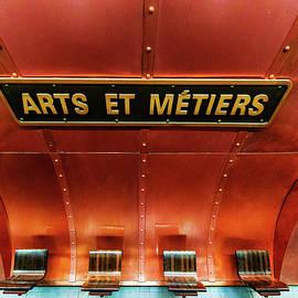 Les Arts et Metiers, Metro Station, Paris, France. by Maggie Mccall