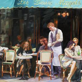 Les Deux Magots - Cafe Scene In Paris by Dominique Amendola
