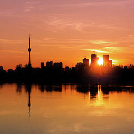 Leslie Street Spit Toronto Canada Sunset by Brian Carson