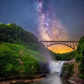 Letchworth and the Milky Way by Mark Papke