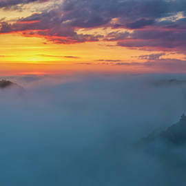 Mark Papke - Letchworth Fog at Sunrise