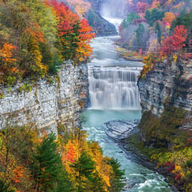 Letchworth Middle falls in Fall by Mark Papke