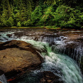 Lewis River Falls by Mike Penney