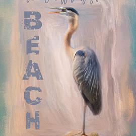 Life Is Better At The Beach - Ocean Bird Art by Jai Johnson