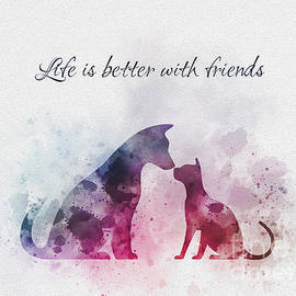 life is better with friends - Rebecca Jenkins