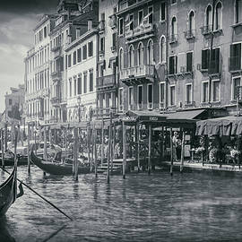 Carol Japp - Life On The Grand Canal in Black and White