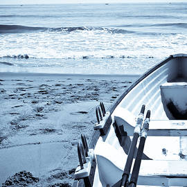 Lifeguard Boat in Blue by Colleen Kammerer