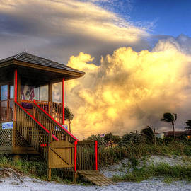 Lifeguard Station 4 by Lawrence S Richardson Jr