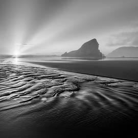 Light in the Dark Black and White by Debra and Dave Vanderlaan