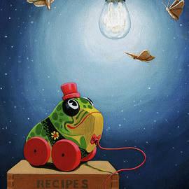 Linda Apple - Light Snacks original whimsical still life