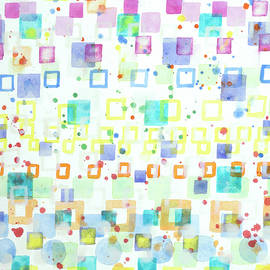 Heidi Capitaine - Light Squares with Drops Pattern