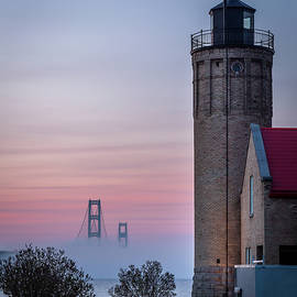 Lighthouse and Bridge by Thomas Miller