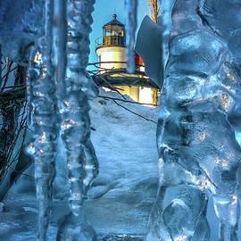 Lighthouse Betsie Winter Blue Ice -5421 by Norris Seward
