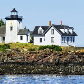Lighthouse In Maine Waters by Kay Brewer
