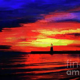 Gull G - Lighthouse sunset