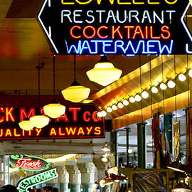 Lights of Pike Place Market by Larry Keahey