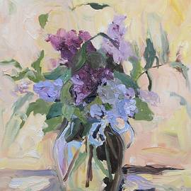 Donna Tuten - Lilac Bouquet Oil Painting