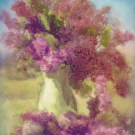 Marci Potts - Lilacs in a Green Vase