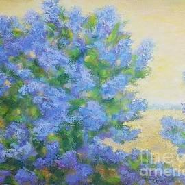 Lilacs landscape by Olga Malamud-Pavlovich