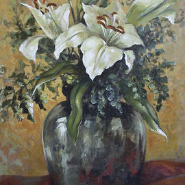 Vali Irina Ciobanu - Lily-oil On Canvas Painting