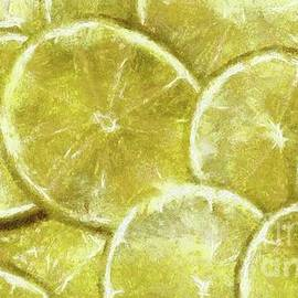 Lime Abstract by Sarah Kirk - Sarah Kirk