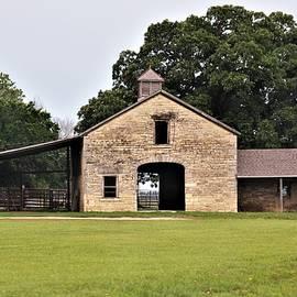 Kansas Native Stone Barn by Linda Benoit