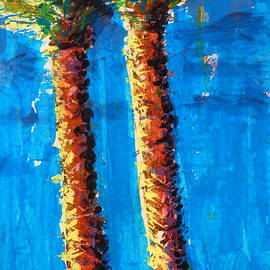 Lincoln Rd Date Palms by Thomas Lupari