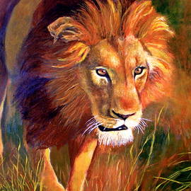 Michael Durst - Lion at Sunset